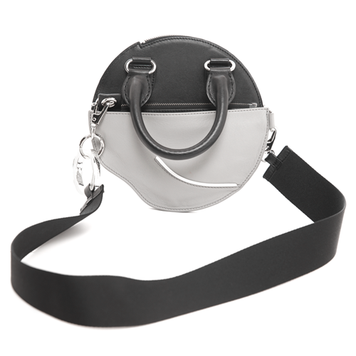 Full Moon Attachable Cross Bag (Black/Grey)